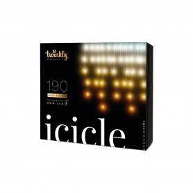 Bandes verticales LED 5m - Twinkly Icicle + BT + Wi-Fi avec diode AWW 190 pcs - LED blanche