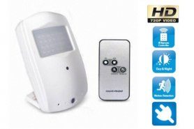 Camera in motion sensor HD 1280x720 - continuous recording
