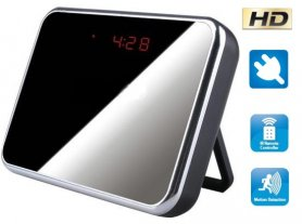 Alarm clock camera with batteries 4800 mA