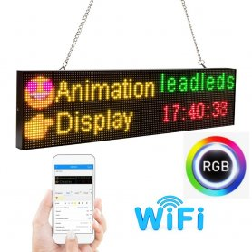 Panel publicitario LED RGB a color con WiFi - tablero 52 cm x 12,8 cm