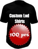 Custom light up shirts - 100x pack
