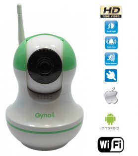 Smart Video Baby Monitor avec vision nocturne et WiFi - Gynoii