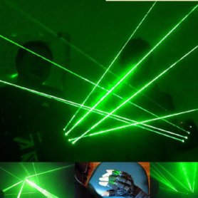 Lézer kesztyű - 4 Zöld