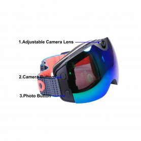 Ski goggles with Ultra HD camera with UV400 filter + WiFi connection