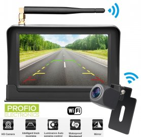 "Wireless parking camera set: 5"" monitor + mini rear camera (IP68)"