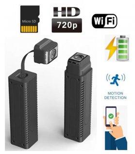 Mini pinhole HD kamera s otočným husím krkom+ WiFi/P2P + detekcia pohybu