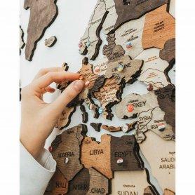 Alfinetes para mapas de madeira - BANDEIROS de países 273 unidades