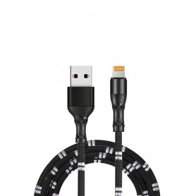 iPhone cable Apple Lightning for charging mobile phones with 1 m length and durable knitted Bamboo design