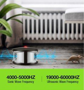 Beltéri ultrahangos 360 ° -riasztó rovarok és állatok számára