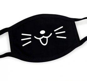 Textile face mask 100% cotton - pattern Cat