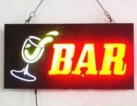 LED-ul de lumină publicitate bord semn BAR - 43 cm x 23 cm