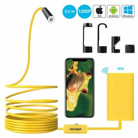HD endoscope with LED light and WiFi with long goose neck up to 5m
