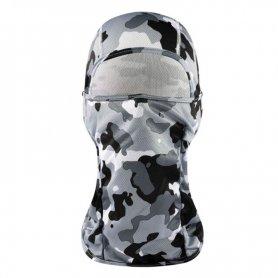 Masque Élastique Cagoule Camouflage - Noir et Blanc