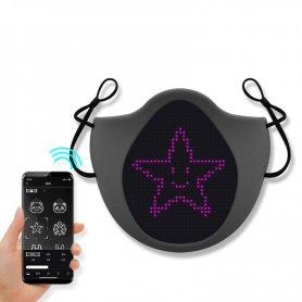 Smart LED maskana tvár ako rúško - LED ANIMÁCIE (programovanie cez Smartphone iOS / Android)