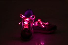 Lacets Sneakers - LED rose