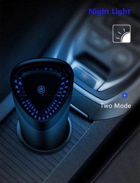Umidificador ultrassônico 360 ° com ionizador + carregador USB