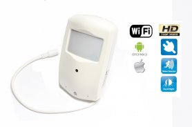 WiFi camera in motion sensor with HD 1280x720 resolution and IR LED night vision