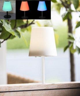 Solární LED lampa - 8 barev + Li-ion + solární panel + IP65 krytí