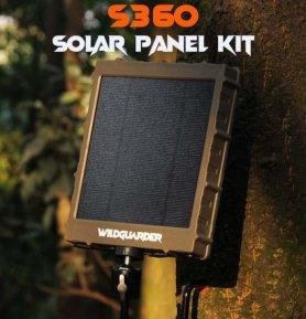 Panneau solaire (chargeur) pour pièges photo et caméras + Li-ion 8000mAh + sortie 6/9 / 12V