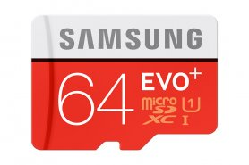 Samsung micro SDXC 64 Гб EVO Plus + SD адаптер