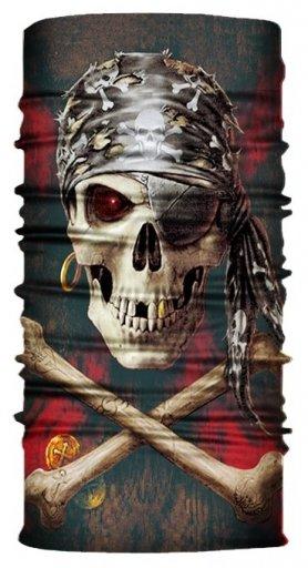 Pasamontañas esqueleto (sombrerería multifuncional) - PIRATE SKULL