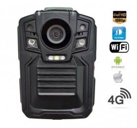 Videocamera indossata Full HD con LED IR + 4G + WiFi e GPS