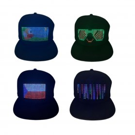 LED display cap programmable via mobile phone - app in Smartphone (iOS / Android)