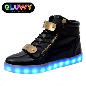 Light up Shoes LED - Black and gold