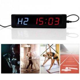 Minuterie d'intervalle LED pour usage sportif - 34,5 cm x 10 cm