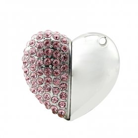 USB jewelery - Heart with diamonds