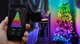 Weihnachtsbaumleuchten SMART - LED Twinkly Strings - 250 Stück RGB + W + BT + Wi-Fi