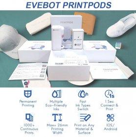 Kézi hordozható nyomtató - EVEBOT Mini toll Wifi - logó + szöveg nyomtatása különböző felületekre