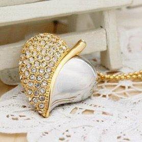 Taste de lux bijuterii USB - inima cu pietre