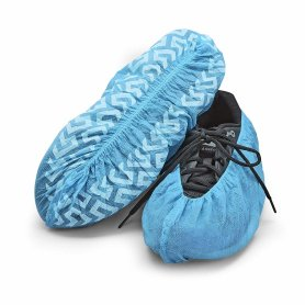 Disposable protective shoe cover with elastic rubber band