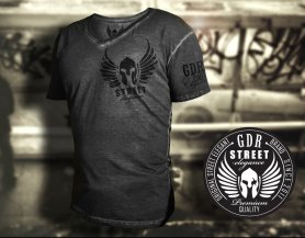 "GDR T-shirt -"" Spray Grunge Effect"" dark gray"