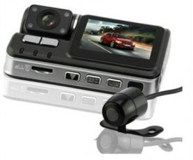 Car backup dvr z dodatno vzvratno kamero - 4x IR LED