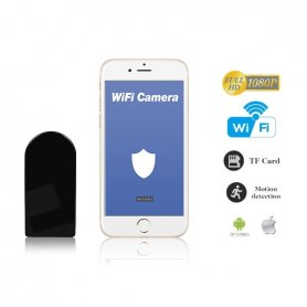 Camera Mini Spy de supraveghere WiFi Spy Full HD cu obiectiv rotativ orizontal 180 °