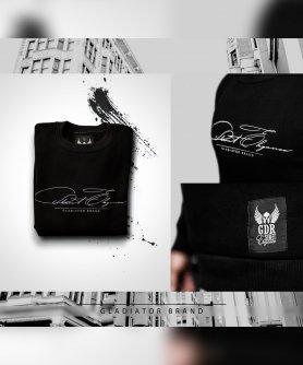 Black sweatshirt GDR elegance