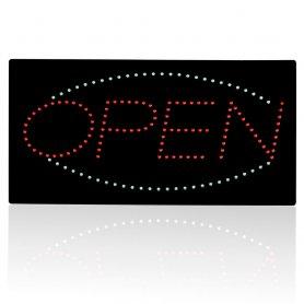 Panneau de panneau ouvert OPEN signe - 48 cm x 25 cm