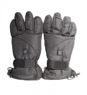 Heated ski gloves for 9V battery + 3 heating modes