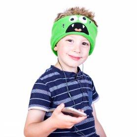 Bequeme Baby Stirnband mit Kopfhörern - Monster
