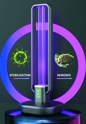 Germicidal light 36W - UV disinfection lamp 360° with ozone sterilization