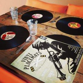 Asztali szőnyeg - 4 RETRO VINYL TÁRCSÁK KÉSZLET konyhába