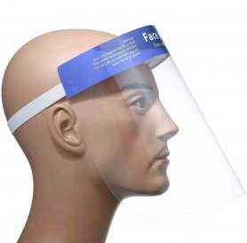 Face shield - transparent and protective with foam for long-lasting wear