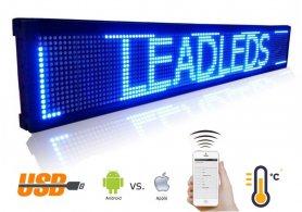 LED табло с син цвят с WiFi - iOS / Android - ширина 101 см