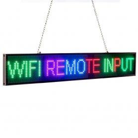 Reklamní barevná RGB LED tabule s WiFi - panel 82 cm x 9,6 cm