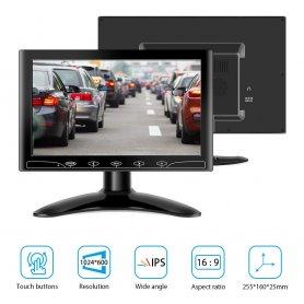 """10 """"Smartphone spejl skærm Monitor + VGA + HDMI og AV-indgang til 2 kameraer"""