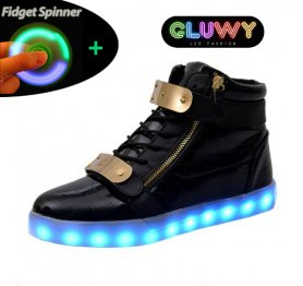 Buty LED - Black and gold