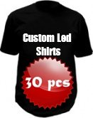 Custom LED shirts - 30x pack