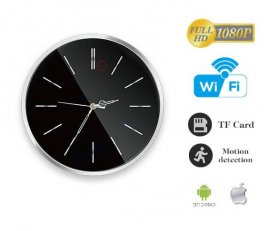 Moderni zidni sat s FULL HD kamerom + WiFi i detekcijom pokreta